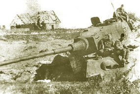 Tank #234 stuck and abandoned intact at the eastern front.