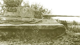 Tank #502 abandoned at Ogledow, eastern front.